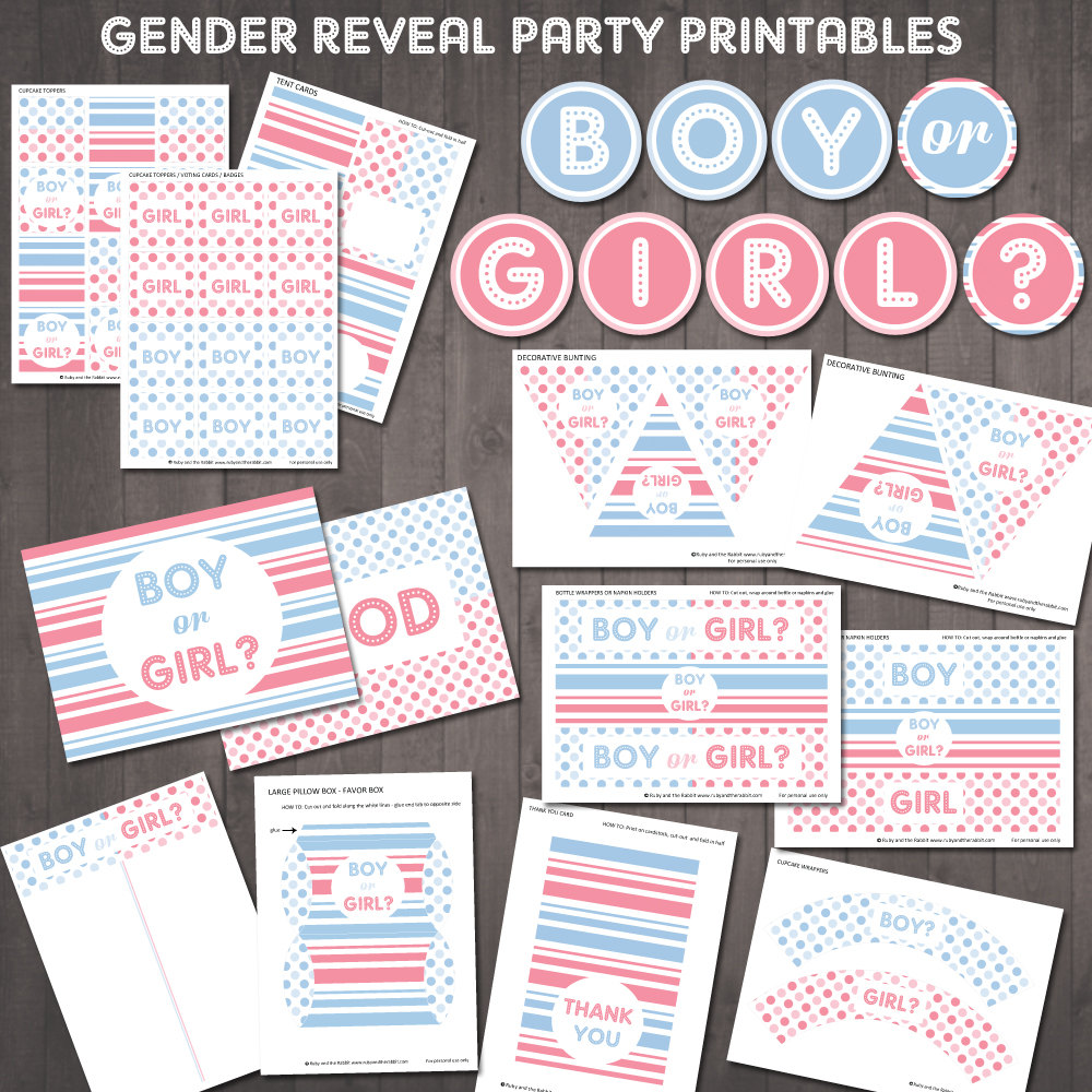 Free Printable Gender Reveal Party Invitations - Mickey Mouse ...