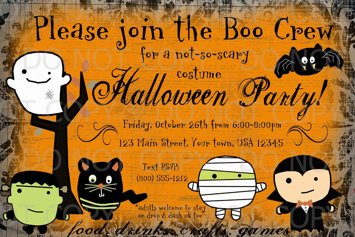 248 best images about halloween at eighteen25 on pinterest – Free Printable Halloween Party Invitations Templates