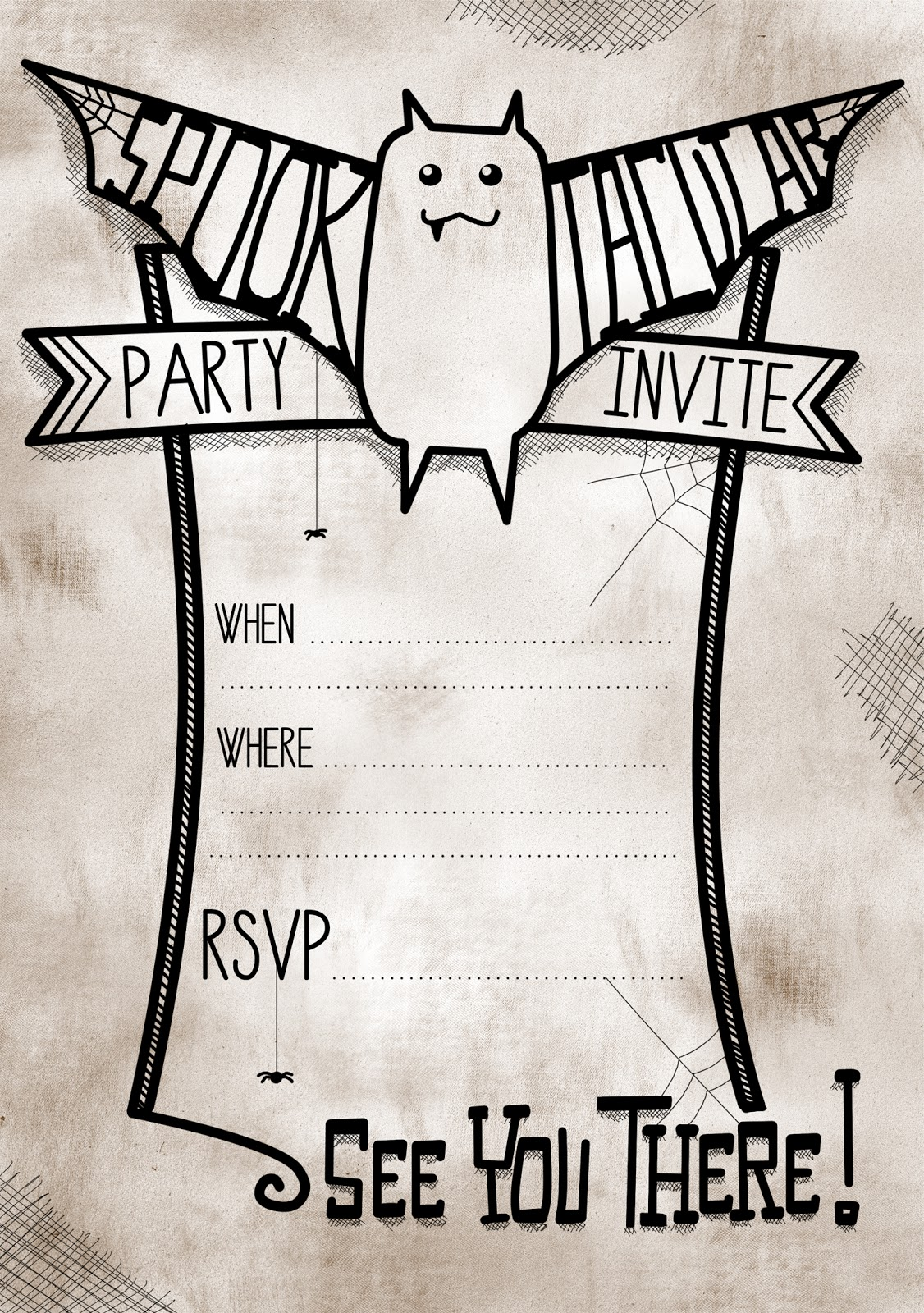 Printable Halloween Party Invitations – gangcraft.net