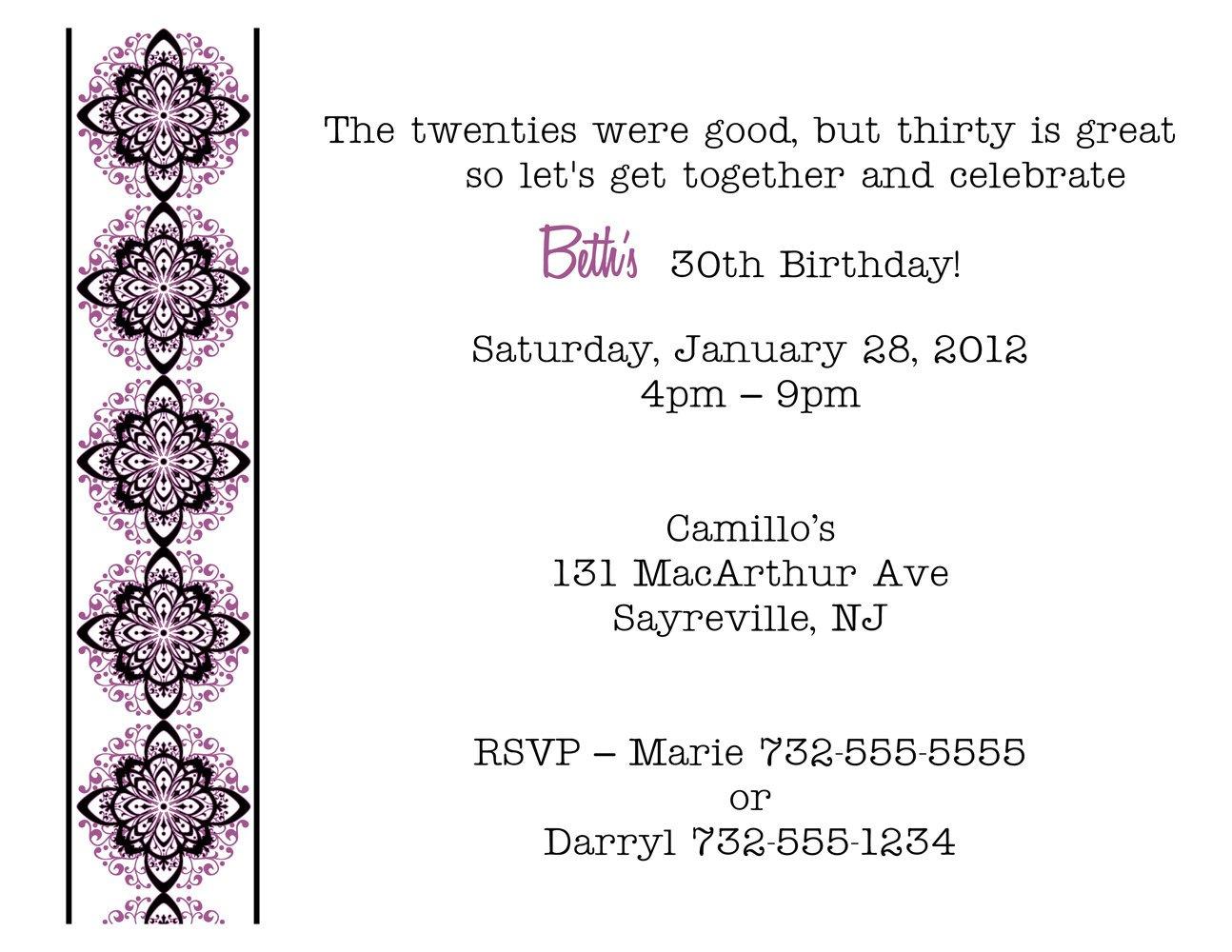 Funny 30th Birthday Party Invitation