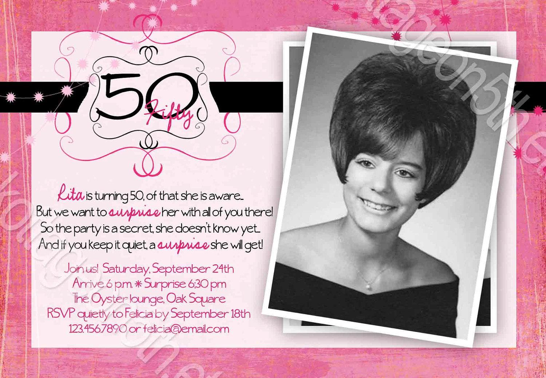 Funny 50th Birthday Invitation Wording Ideas