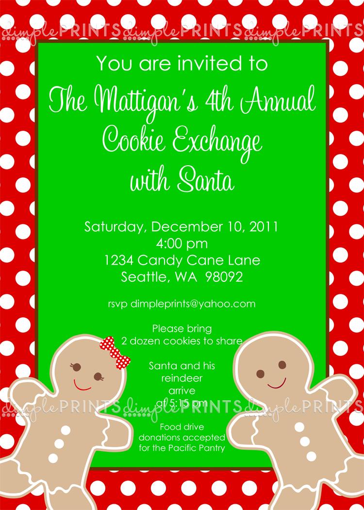 Gingerbread Man Cookie Exchange Printable Invite