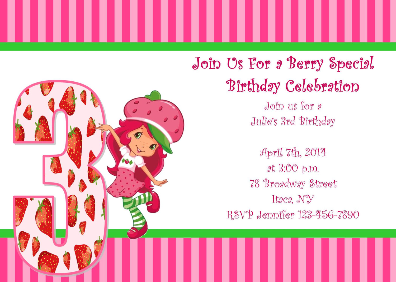 Strawberry Shortcake Invites is nice invitations ideas