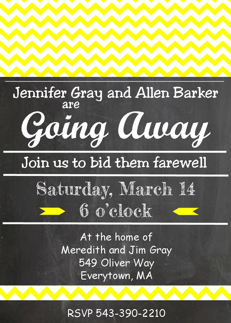 Doc540540 Going Away Party Invitation Going Away Party – Free Farewell Party Invitation Templates