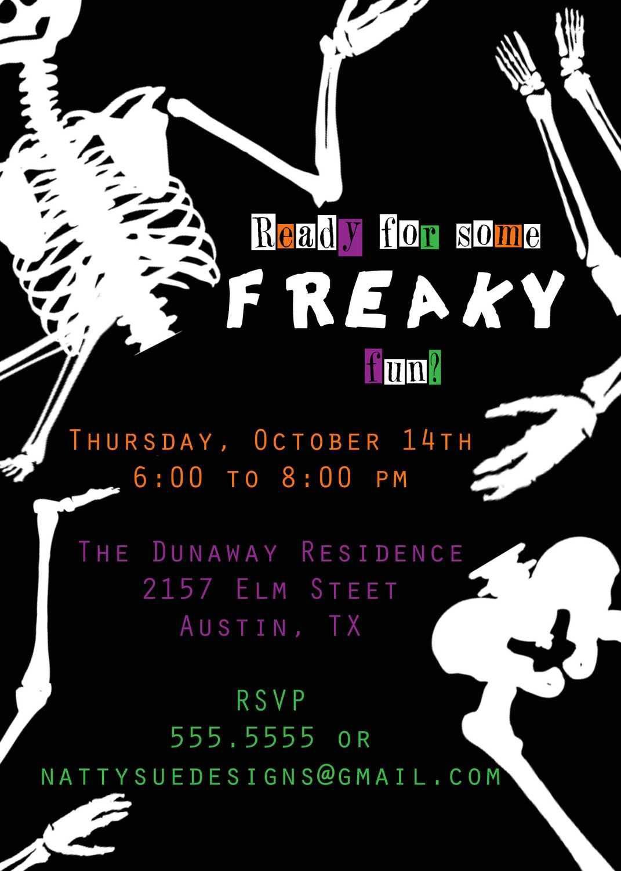 Halloween Invitations Wording Adults