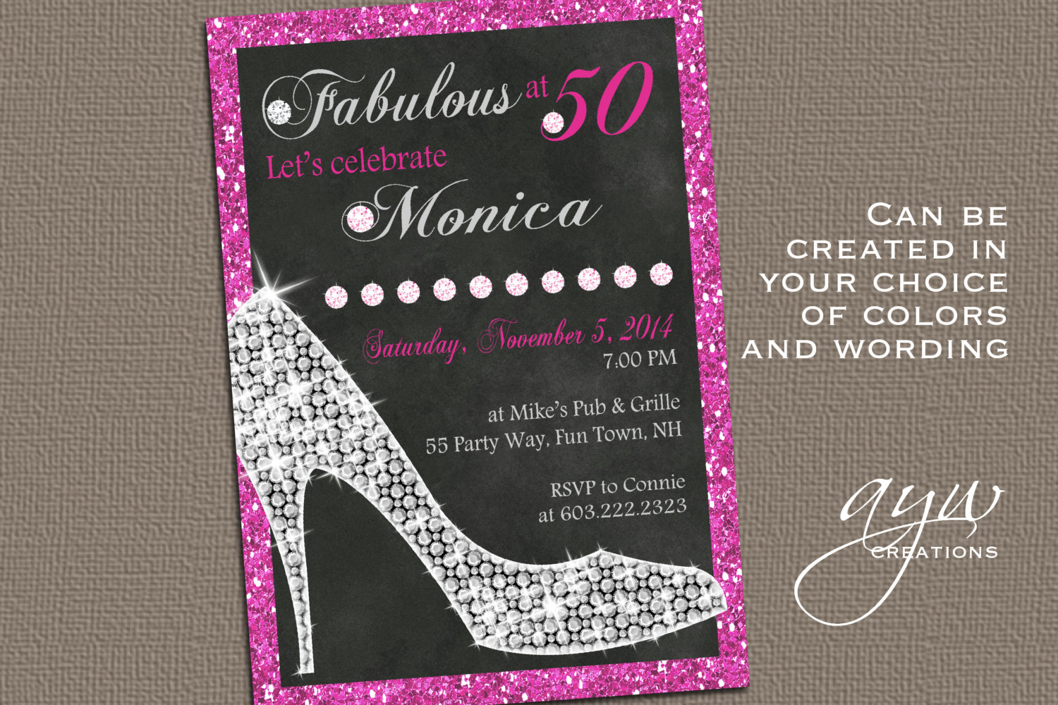 50th Birthday Party Invitations For Her - Mickey Mouse Invitations ...