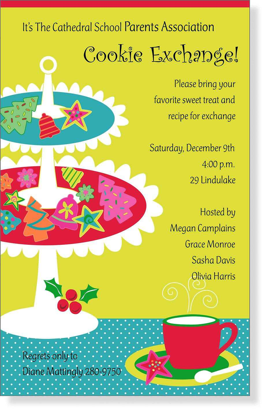 Holiday Party Invitation Wording Gift Exchange