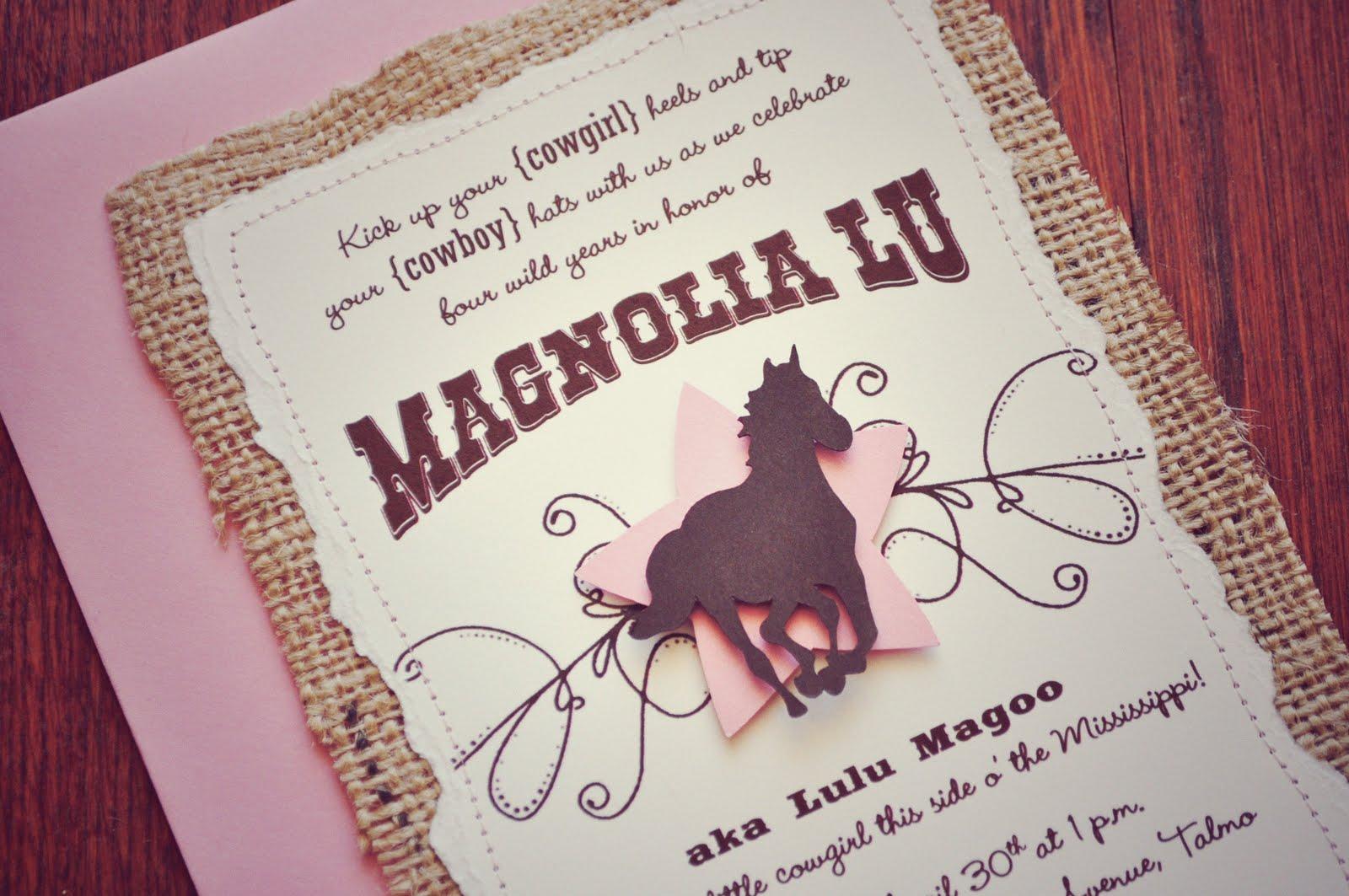 horse themed birthday party invitations - Horse Party Invitations