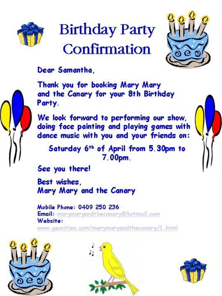 Sample Party Invitation Letter