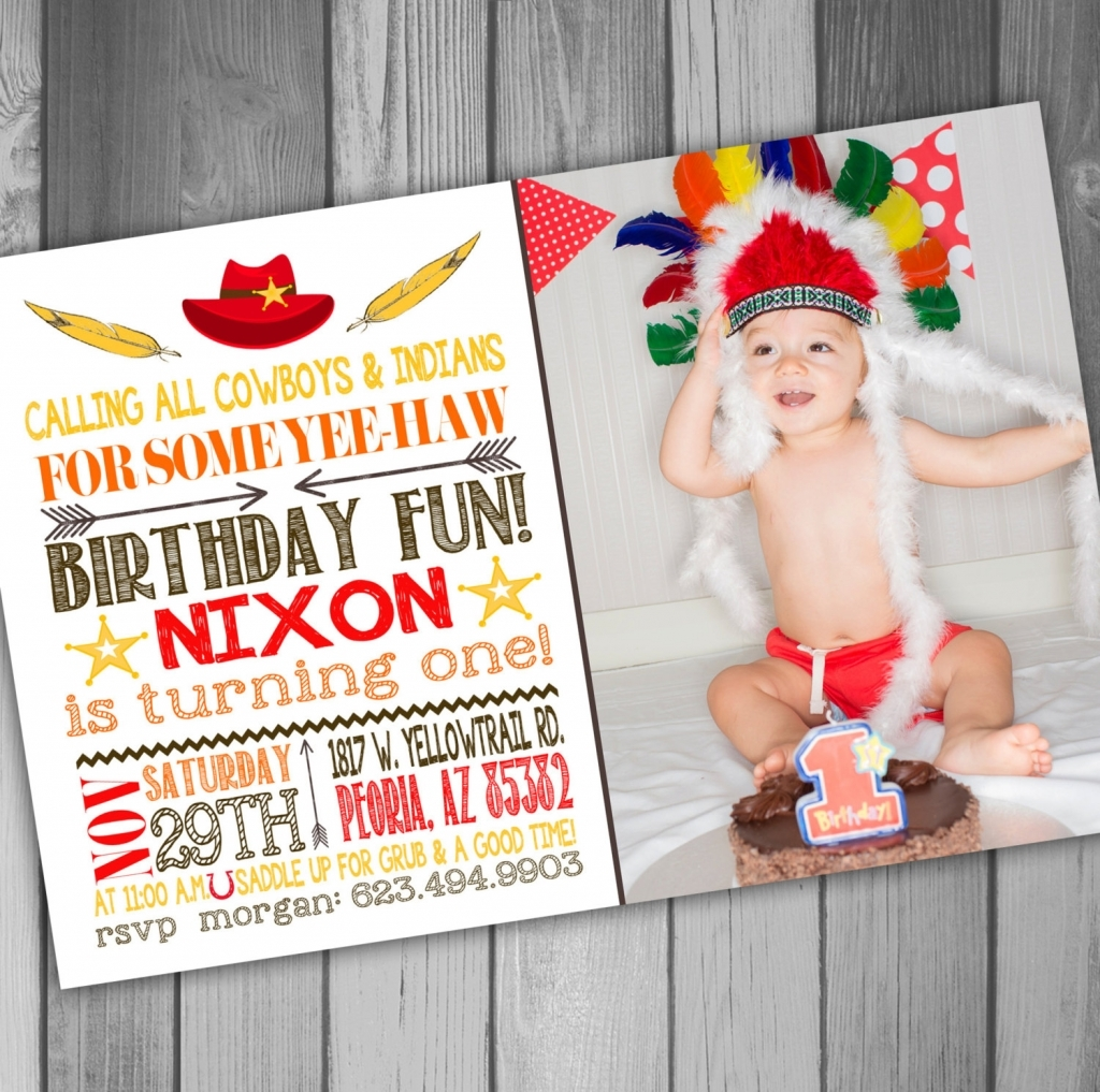 Cowboy And Indian Party Invitations Mickey Mouse Invitations Templates