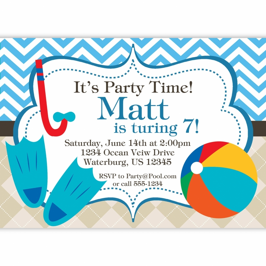 Indoor Beach Party Invitation Wording Archives