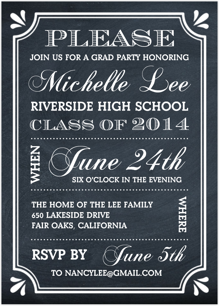 Invitation For A Graduation Party