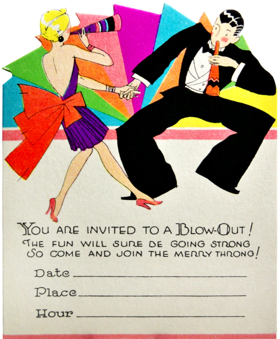New Years Party Invitations - Mickey Mouse Invitations Templates