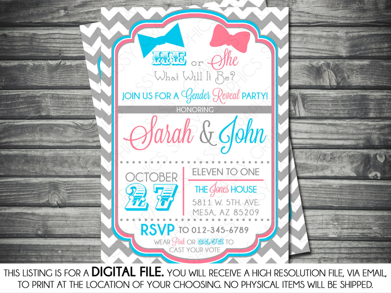 Invitations For Gender Reveal Party