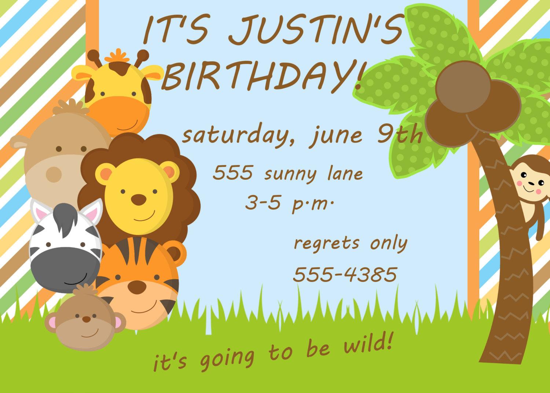 Jungle Party Invitation - Mickey Mouse Invitations Templates