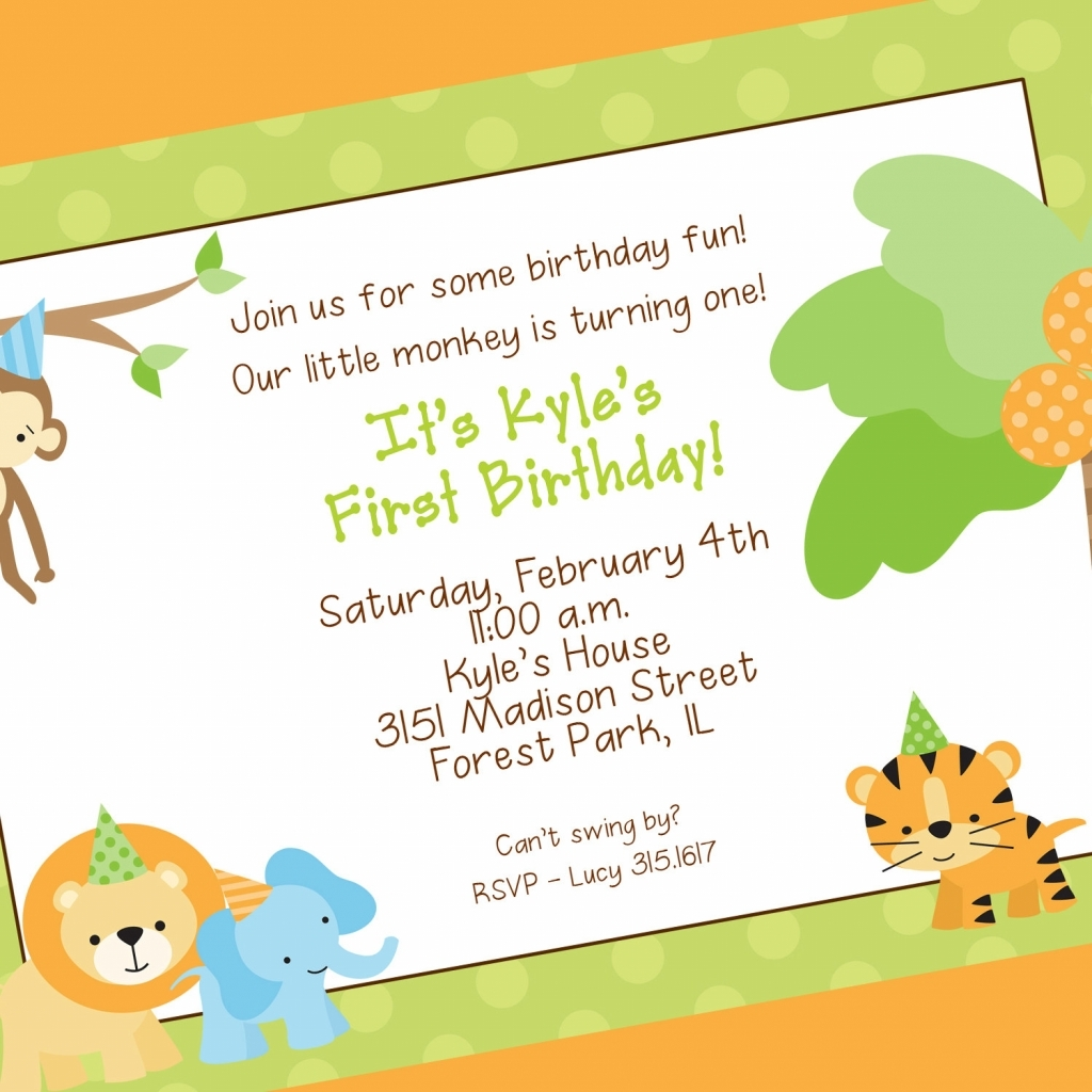 Jungle party invitation stopboris Choice Image