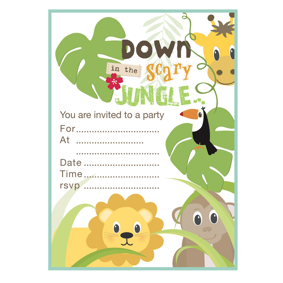 Free Jungle Party Invitations - Life Style By Modernstork.com