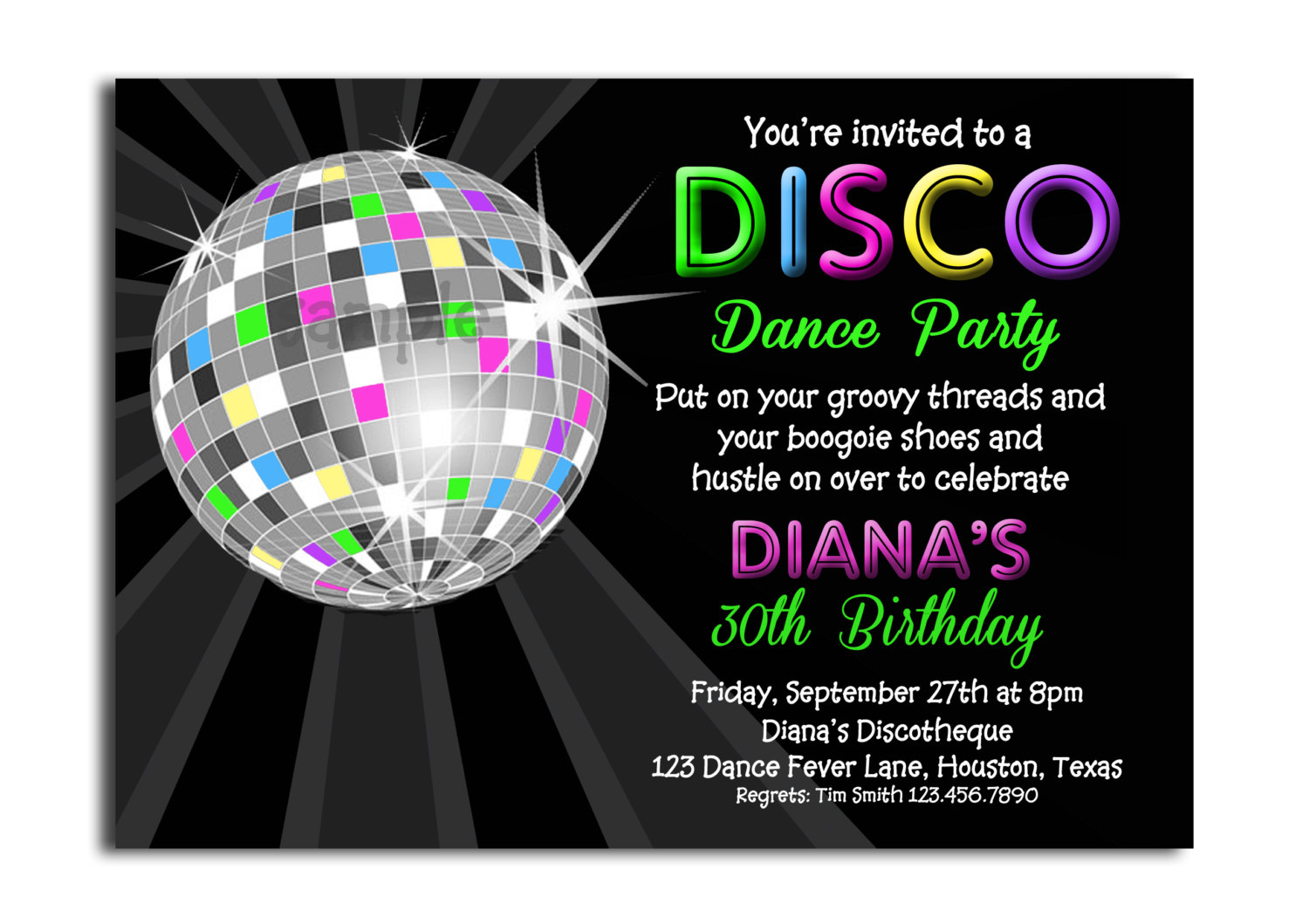 Childrens Disco Party Invitations Mickey Mouse