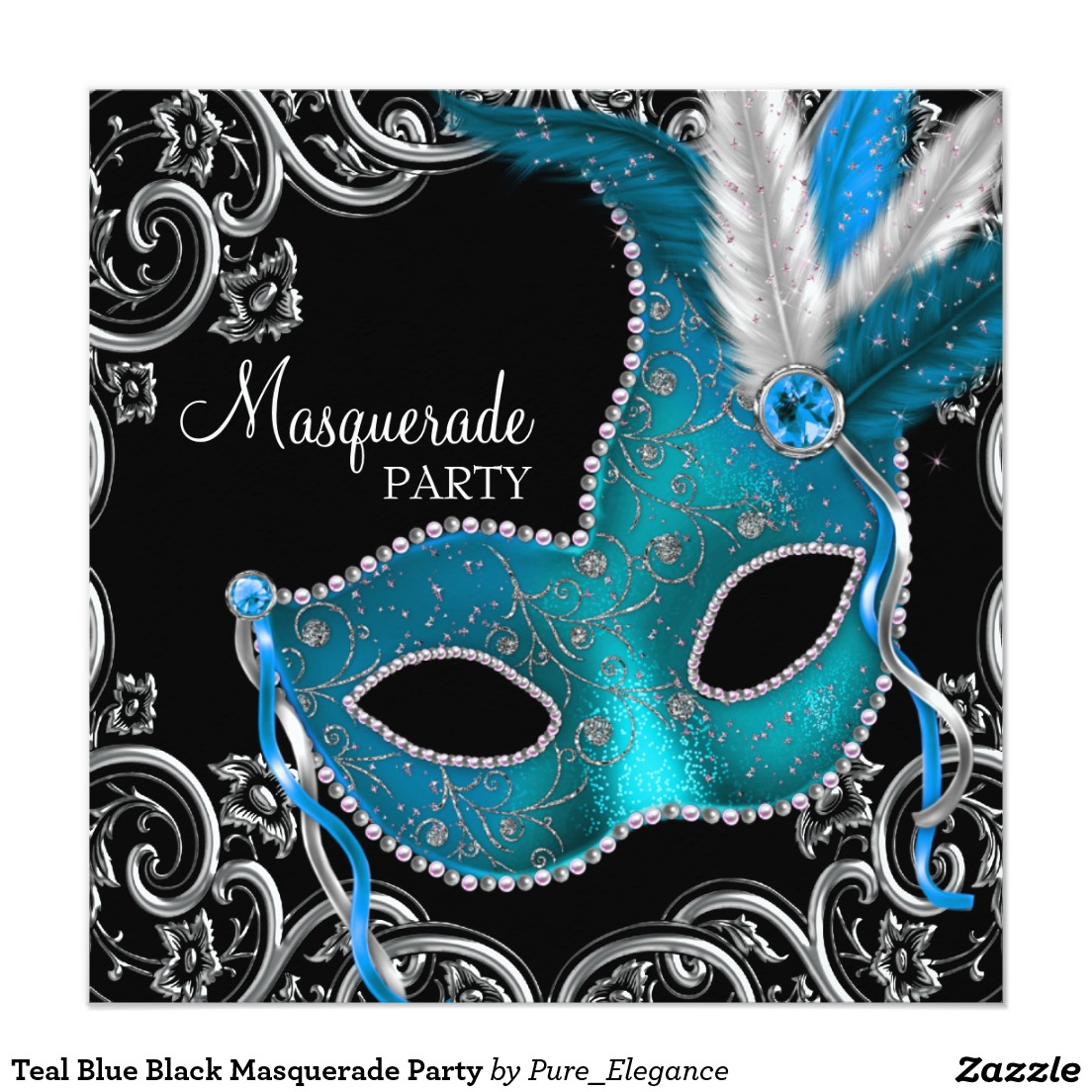 Masquerade Theme Party Invitations - Mickey Mouse Invitations Templates