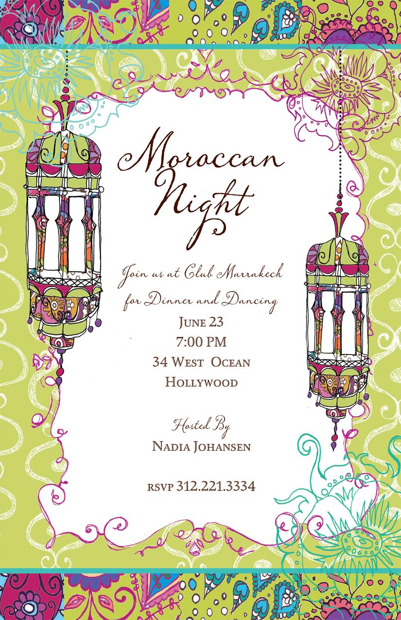 Moroccan Nights Invitation