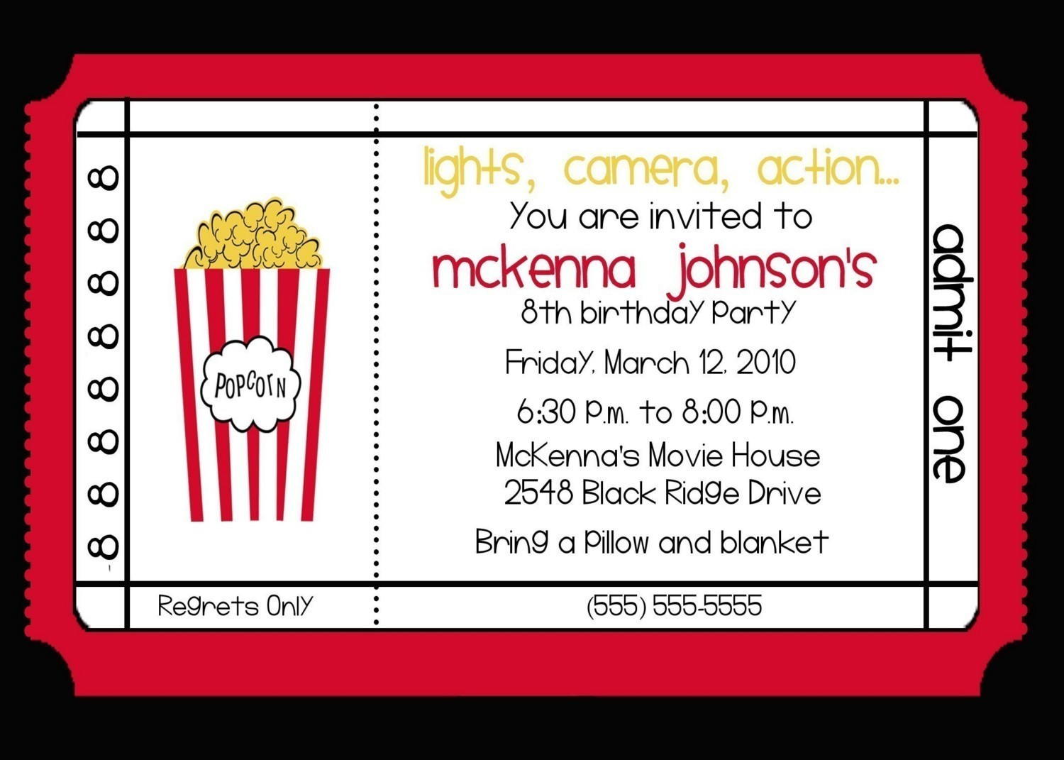 Ticket Party Invitations Printable - Mickey Mouse Invitations ...