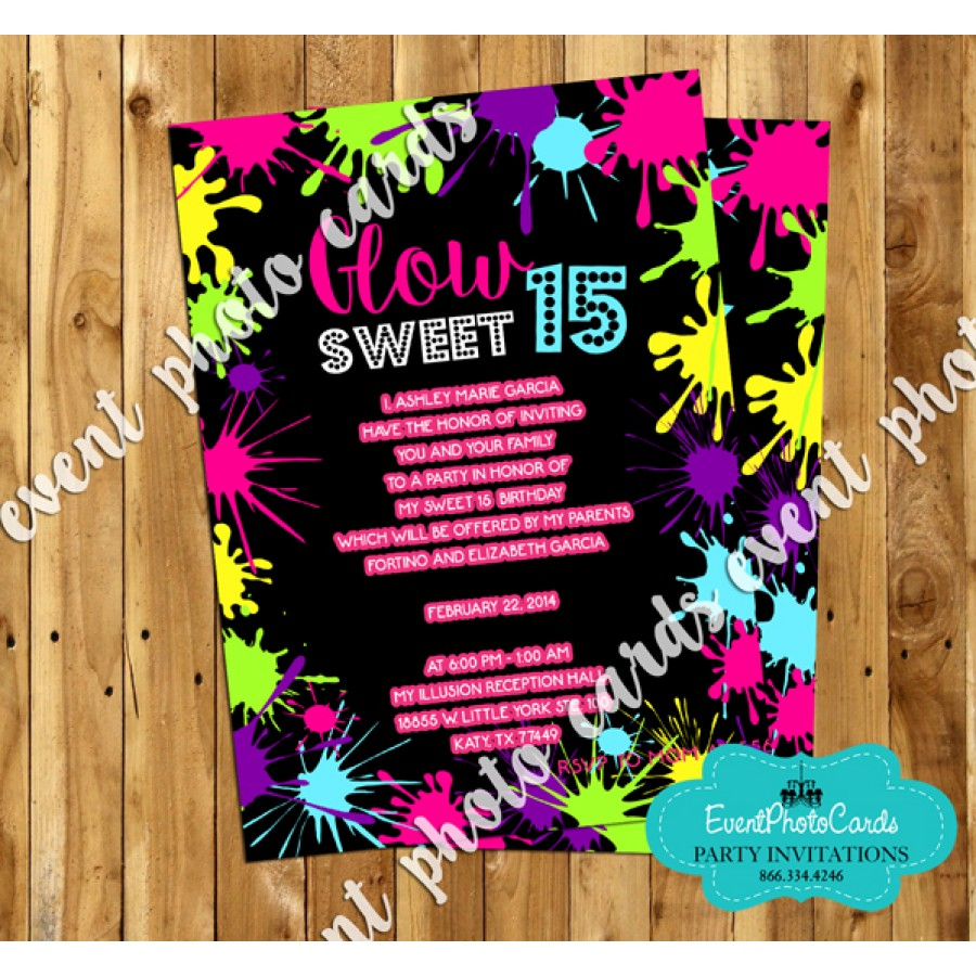 neon birthday party invitations  mickey mouse invitations templates, Party invitations