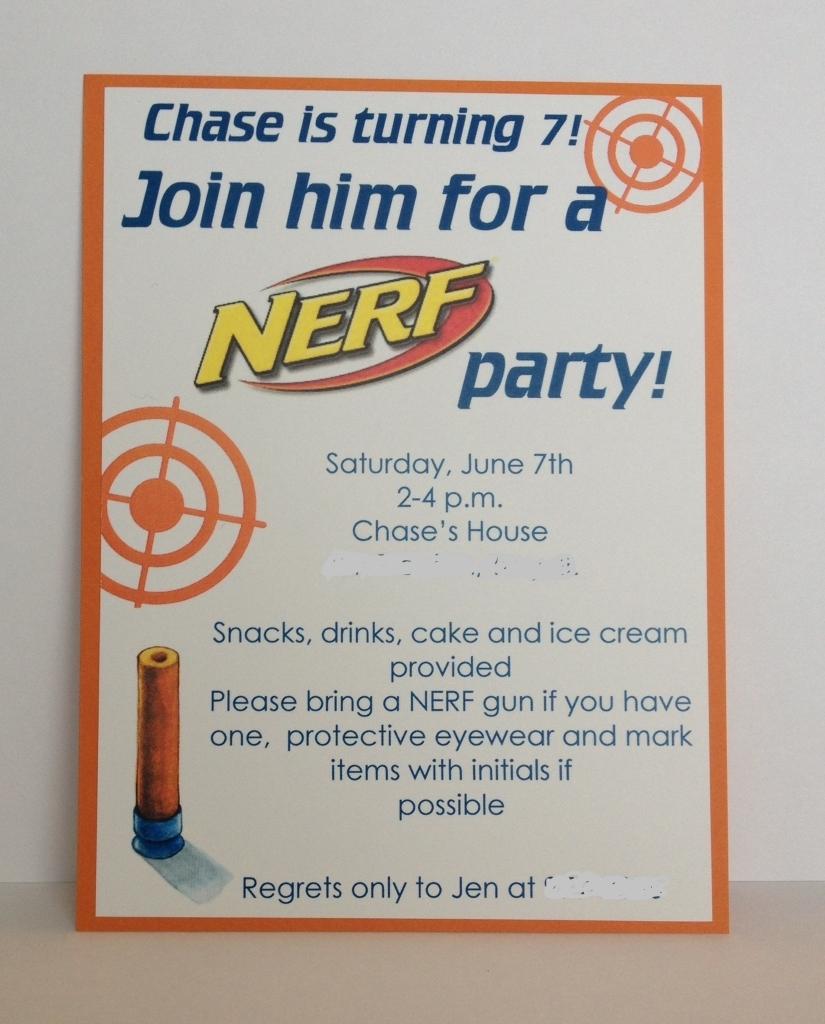 Nerf Gun Birthday Party Invitations Mickey Mouse Invitations, Party  Invitations