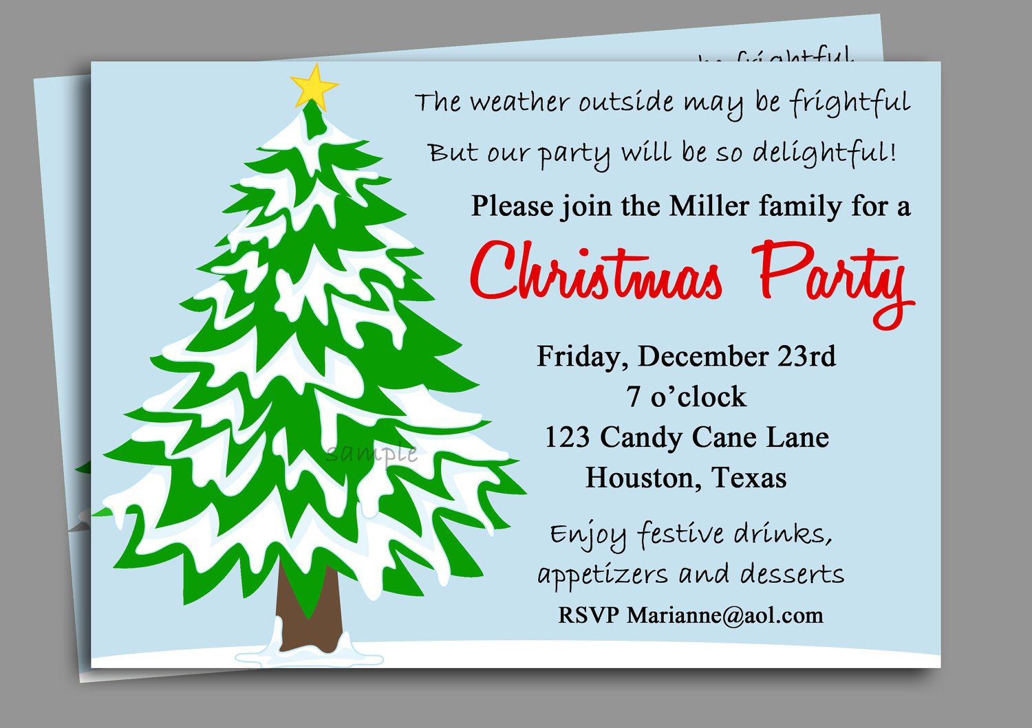 company holiday party invitation