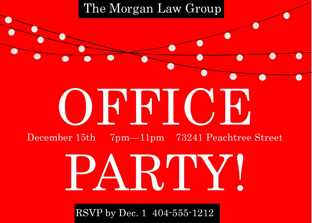 Office Holiday And Christmas Party Invitations 201