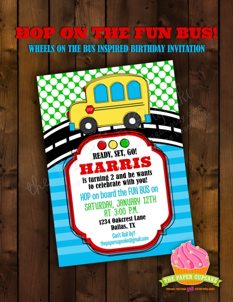 Party Bus Invitations