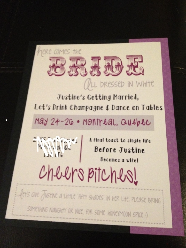 Party Bus Invitations Bachelorette Party Weekend Invitations