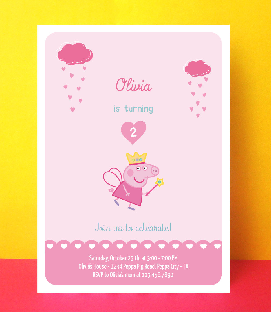 Cool Peppa Pig Invitation Template Contemporary - Entry Level ...