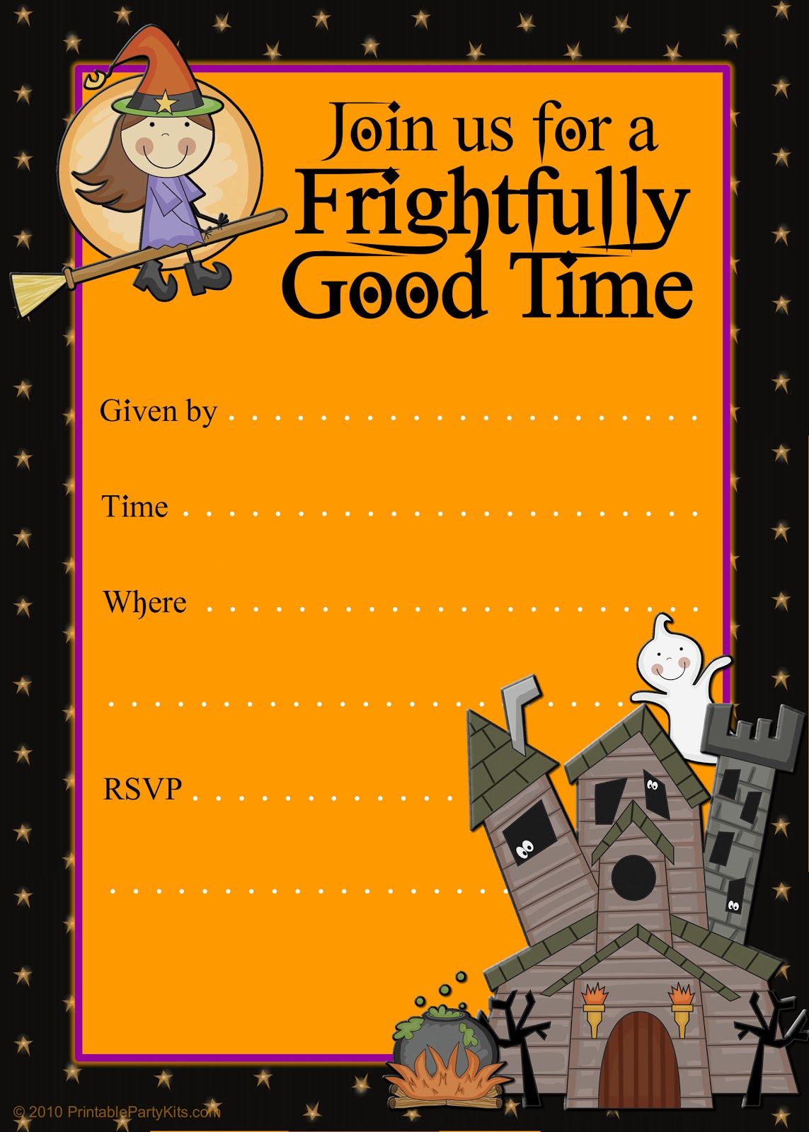 It's just an image of Free Printable Halloween Invitations regarding birthday
