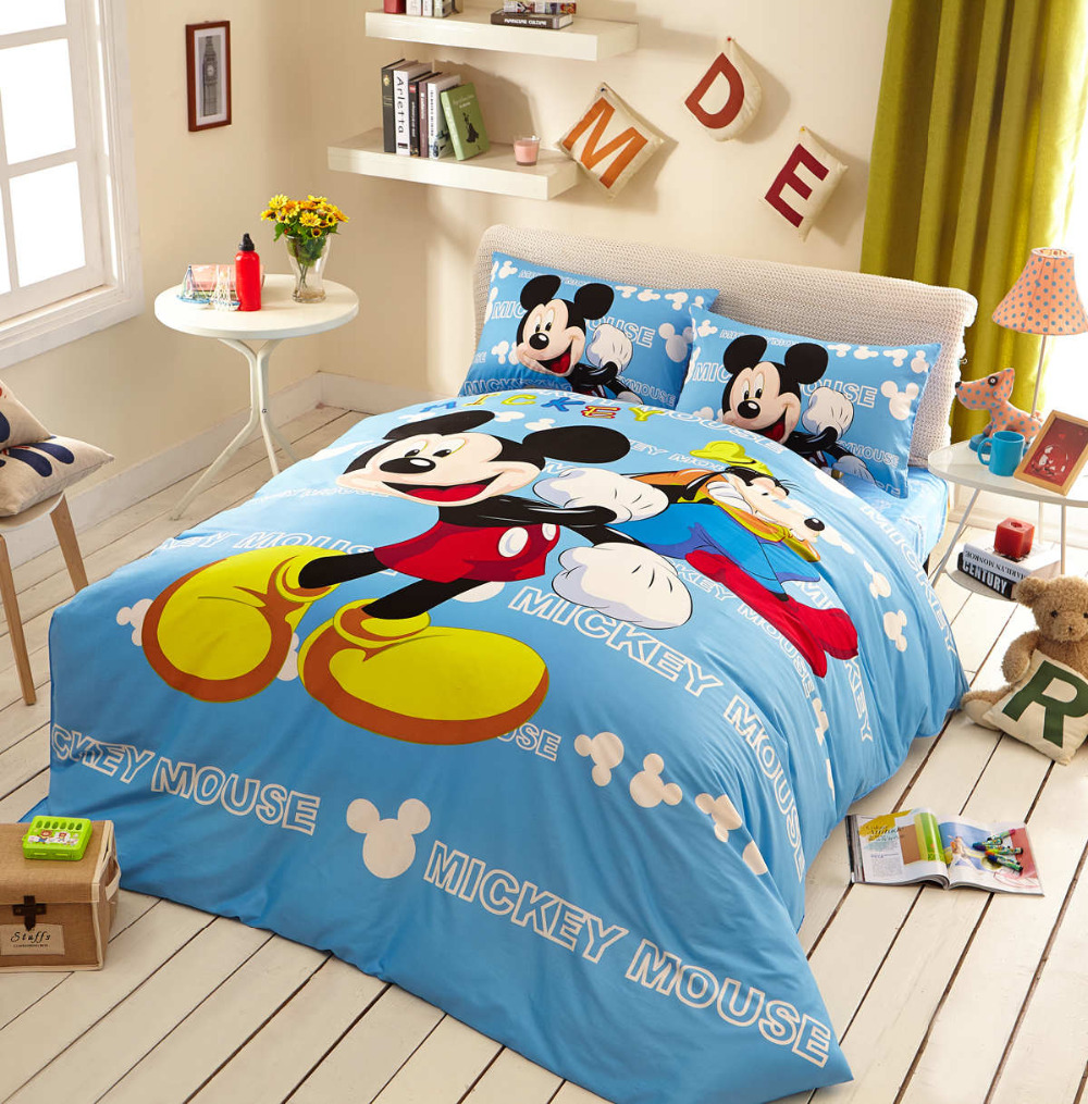Popular Mickey Mouse Bedding Set Twin