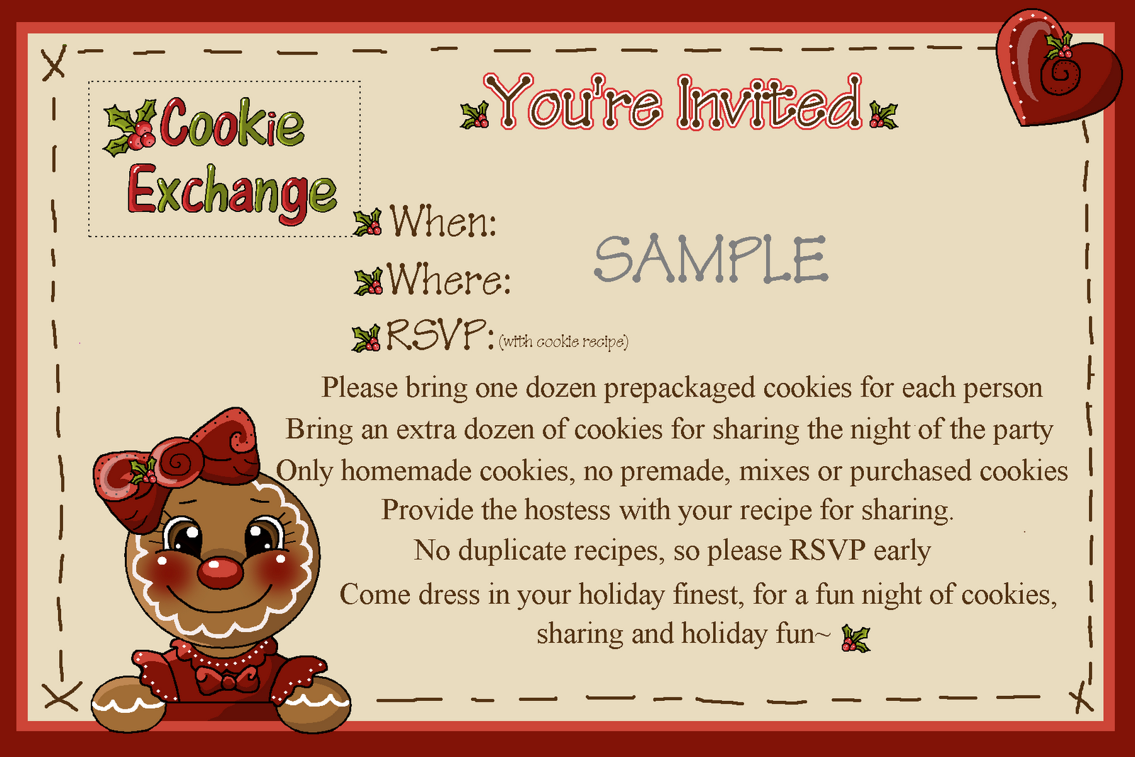Preppy Cocktails And Cookie Exchange Party Invitation Invitation