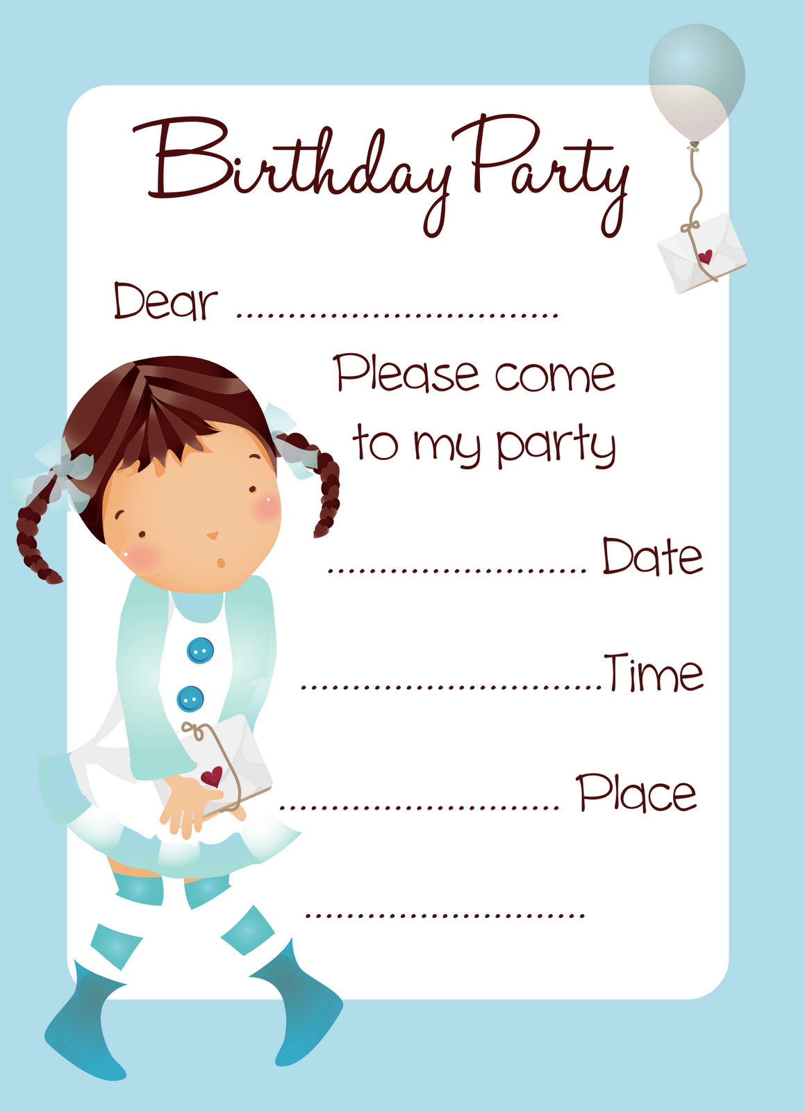 Printable Birthday Party Invitation Cards Fabulous Printable