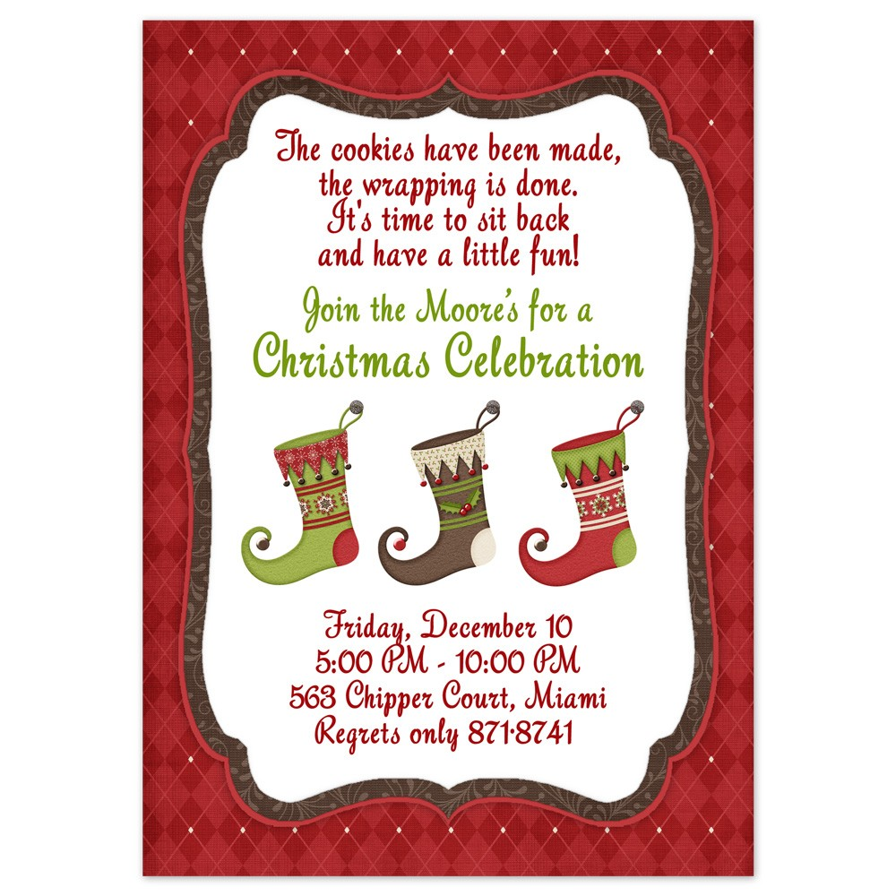 Magnificent christmas party invitation text pictures inspiration dinner party invitation wording how to make a thank you card for a stopboris Choice Image