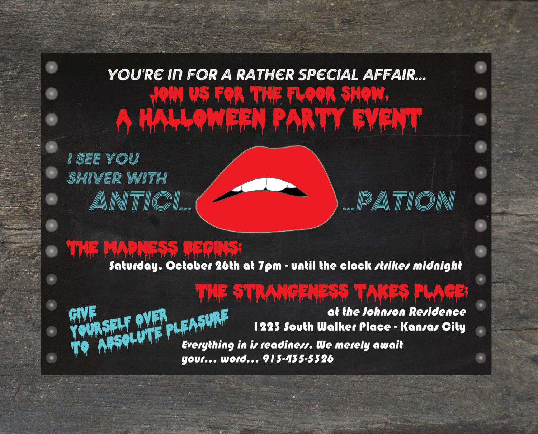 Horror Party Invitations - Mickey Mouse Invitations Templates
