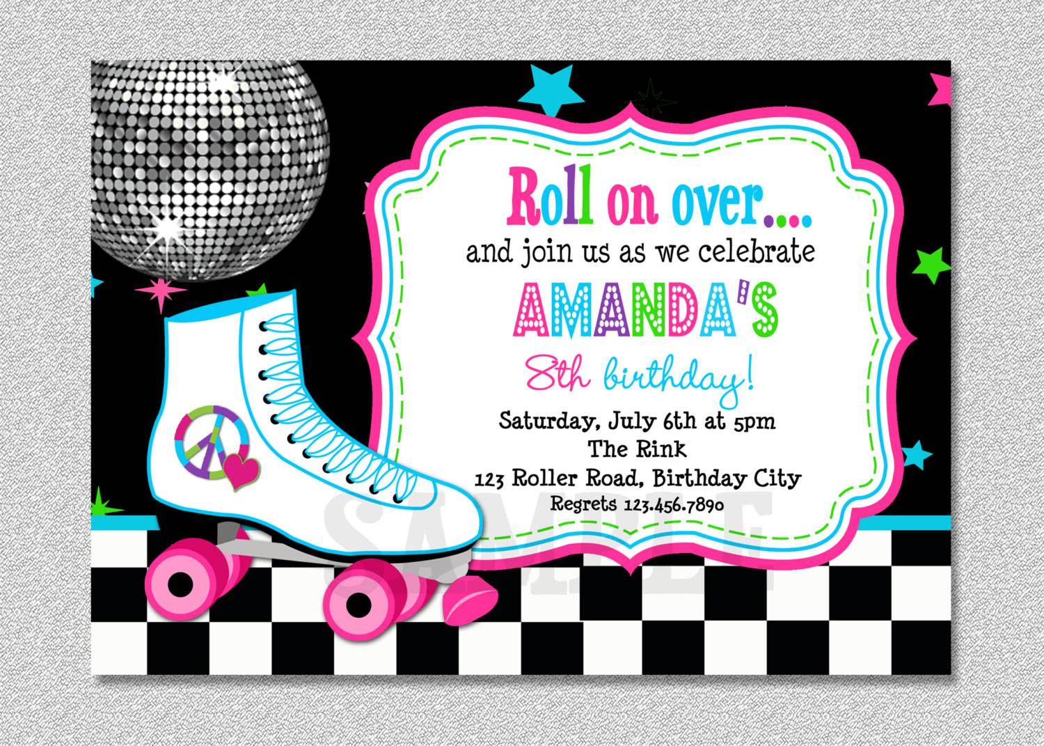 Template For Disco Party Invitation einmaleinshaus – Free Customizable Invitation Templates