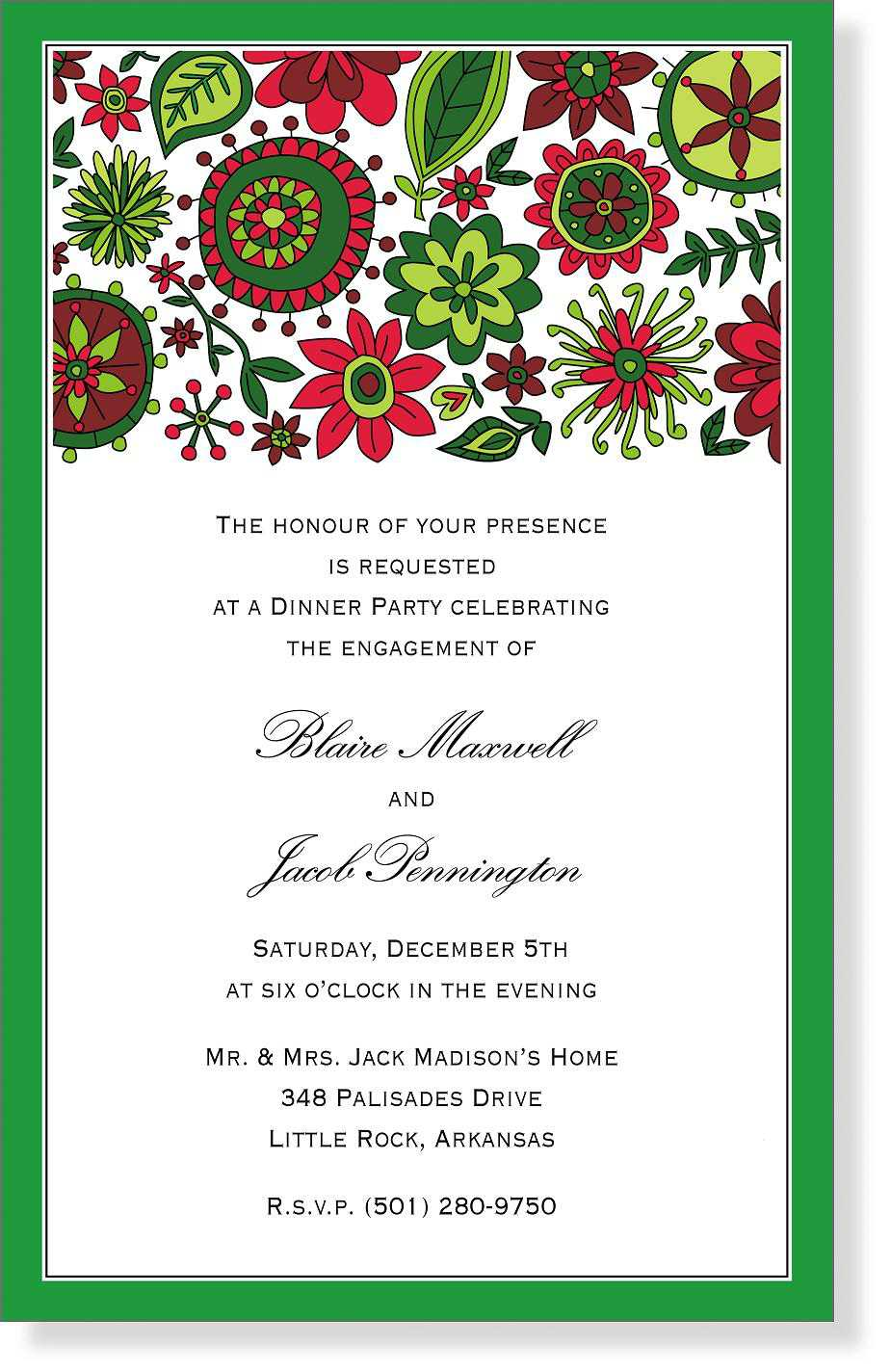 christmas party invite templates red christmas party invitation – Template for Christmas Party Invitation