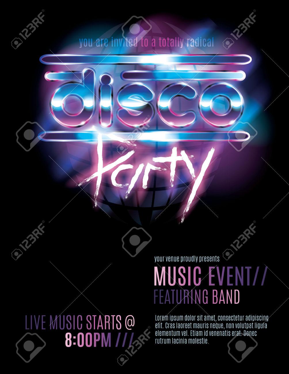 Disco Birthday Party Invitations Free with beautiful invitation example