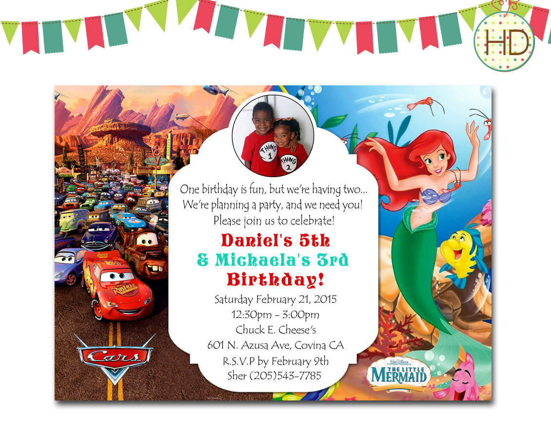 twins party invitations  mickey mouse invitations templates, Birthday invitations