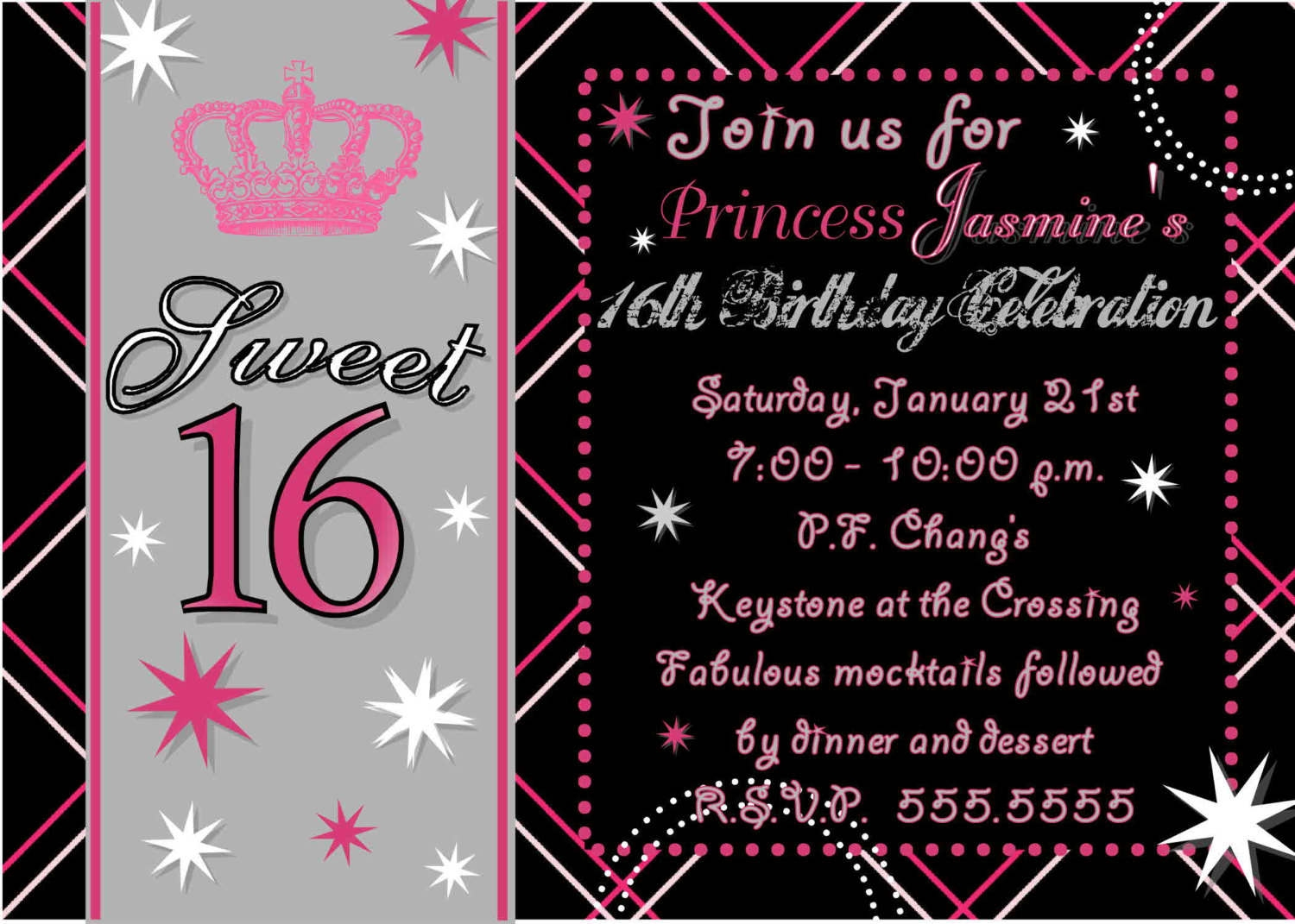 Sweet 16 Party Invitation Wording