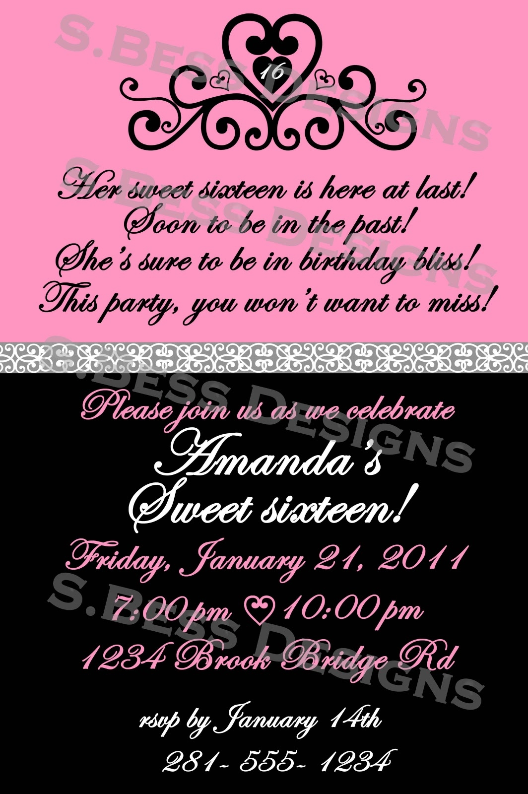 Sweet 16 Party Invitation Wording Mickey Mouse Invitations Templates – Sweet 16 Party Invitations Templates Free