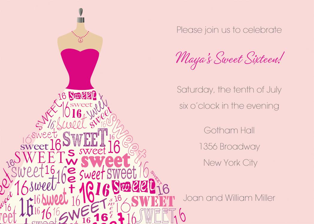 Doc600600 16th Birthday Party Invitation Wording Sweet 16 – 16th Birthday Invitation Wording