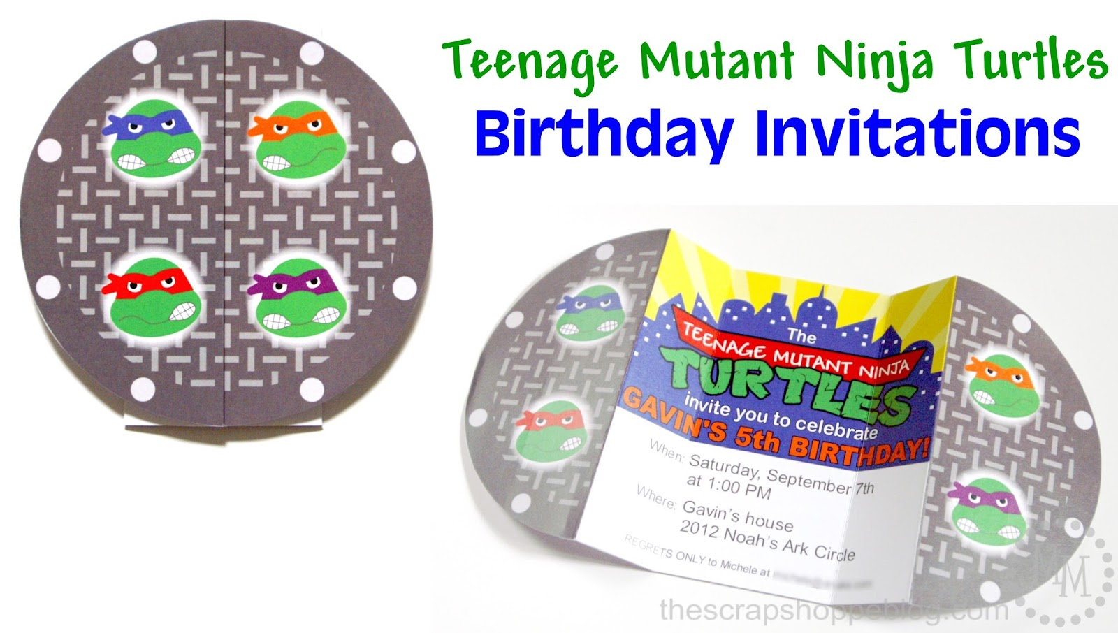 teenage mutant ninja turtles party invitations  mickey mouse, Party invitations