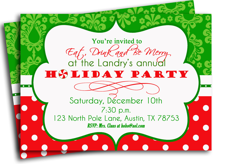 Christmas Party Invitation - Mickey Mouse Invitations Templates
