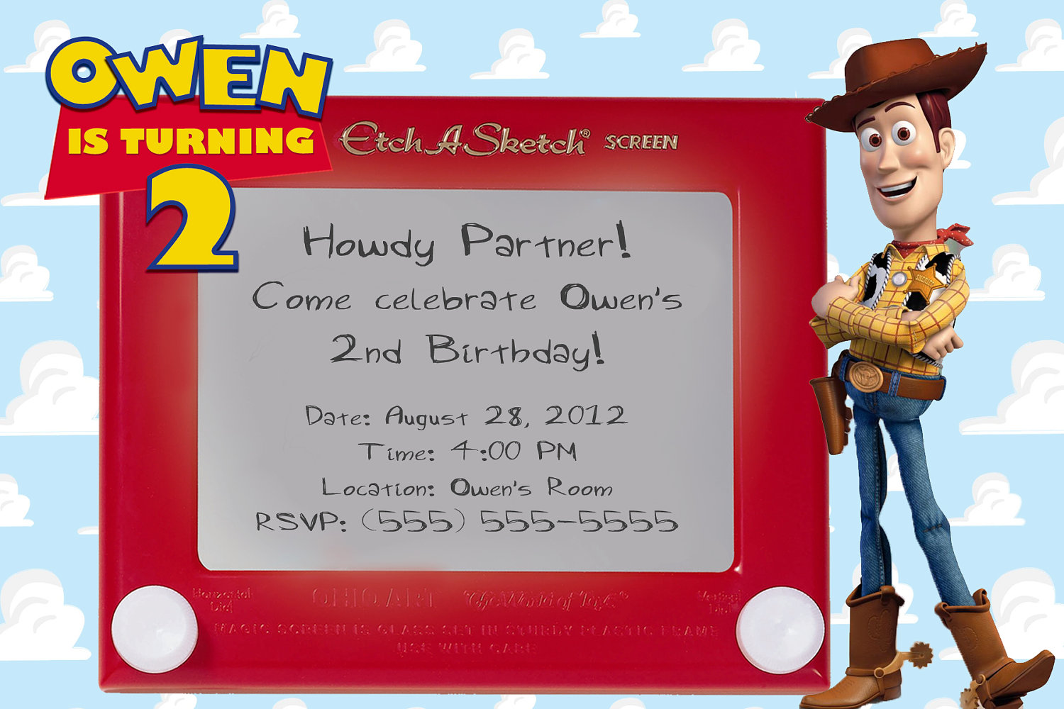 Woody Party Invitations - Mickey Mouse Invitations Templates