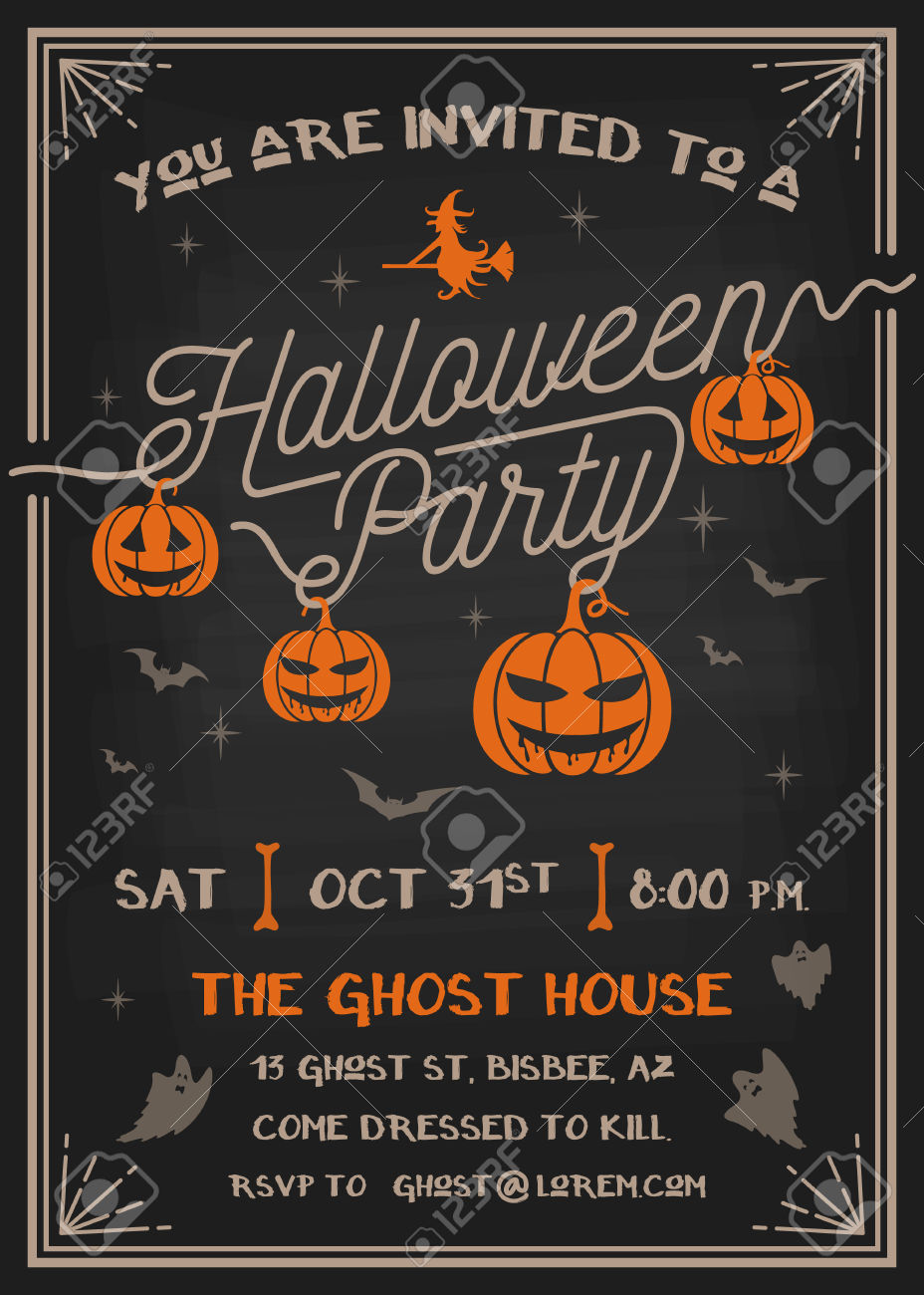 Halloween Party Invitations - Mickey Mouse Invitations Templates