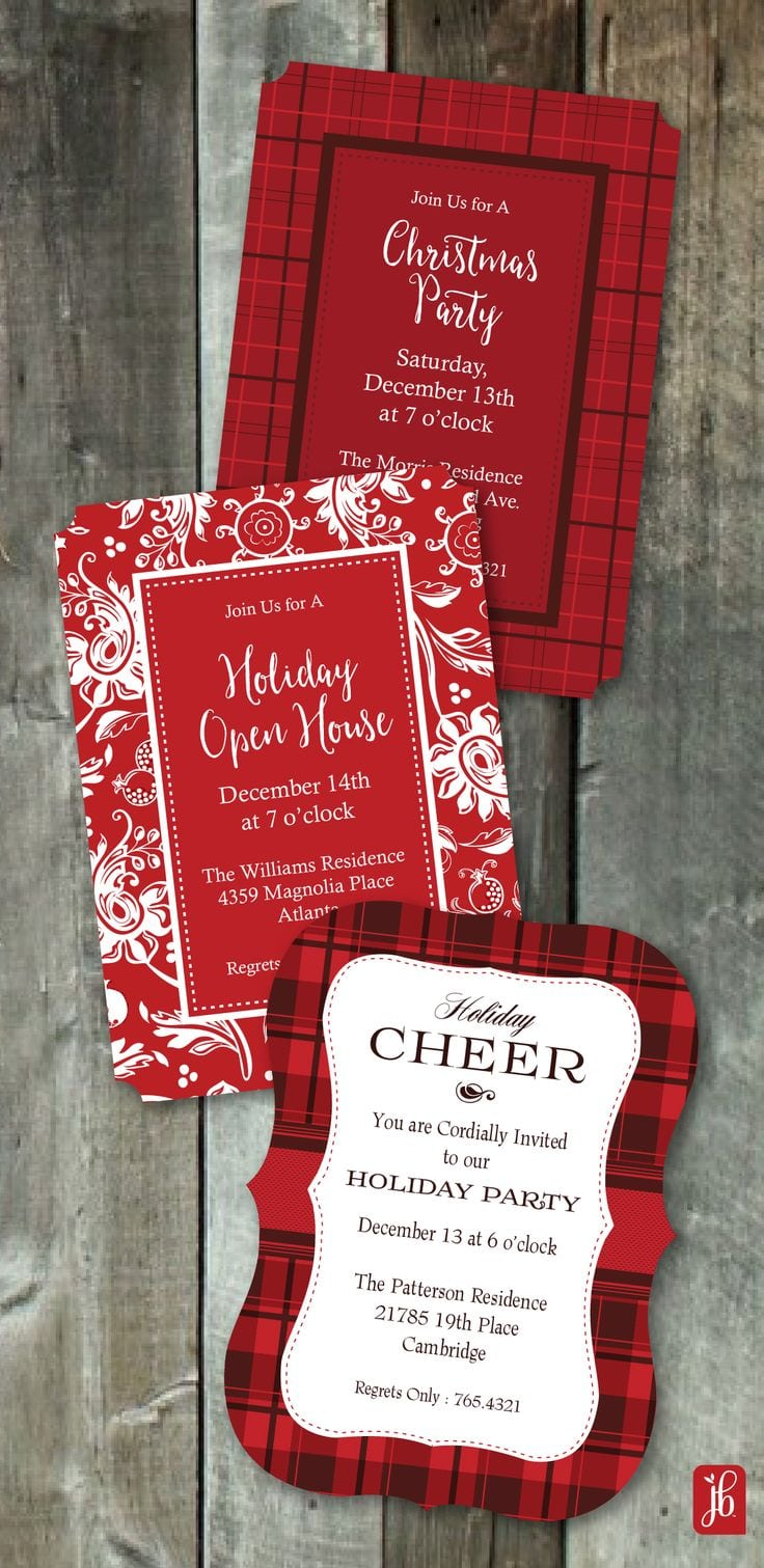 1000 Ideas About Christmas Party Invitations On Pinterest  In